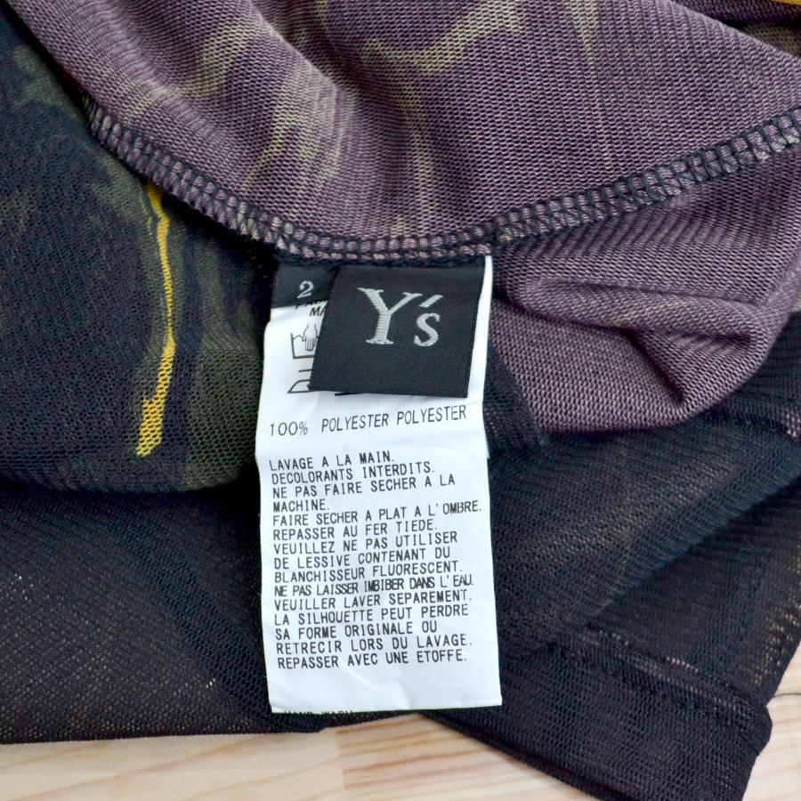 2020SS/ポリエステルチュール墨流インクジェットプリント 長袖Tシャツの買取実績画像