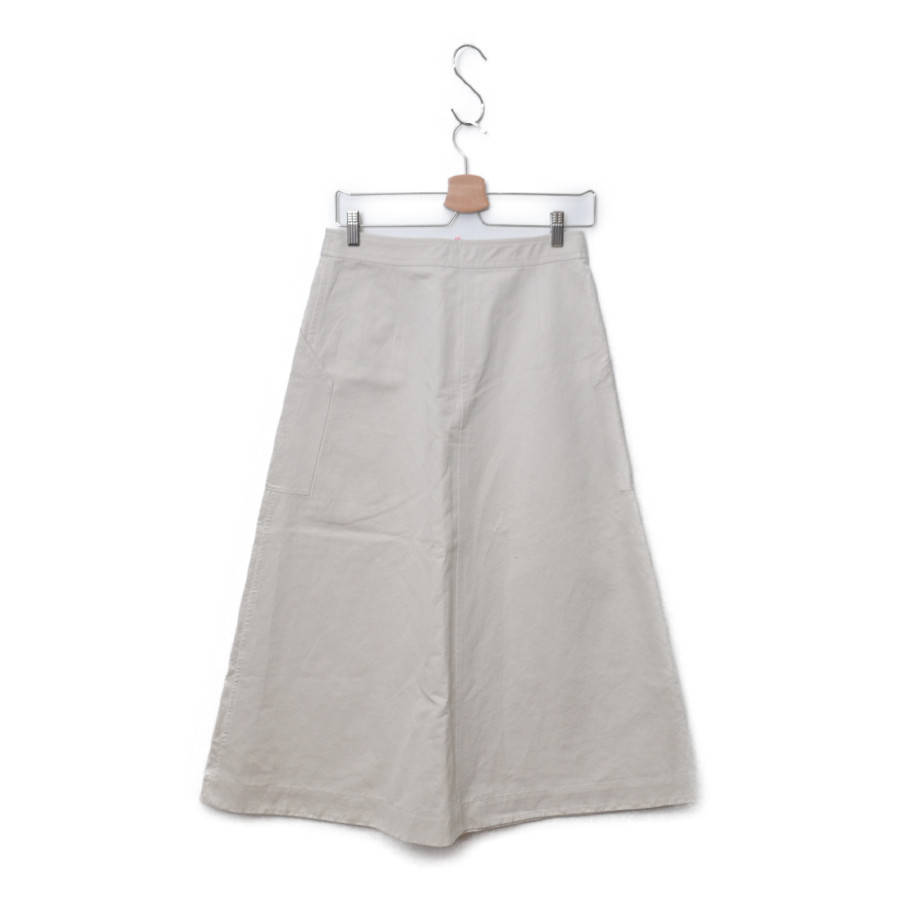 2019SS/ 綿麻ラチネ パッチ ポケット フレア スカートの買取実績画像