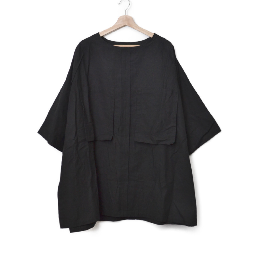 19SS/コットンオックス ワイドプルオーバー シャツ