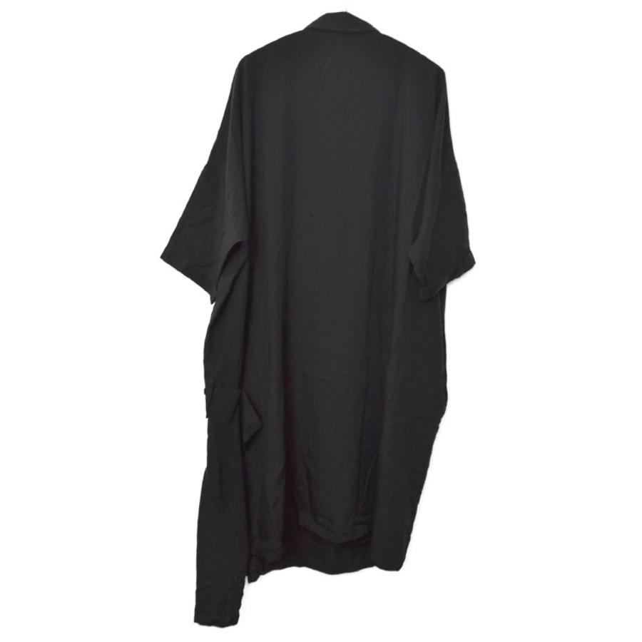 2020SS/テンセルポプリン 釦アシンメトリー 半袖 ドレス ワンピースの買取実績画像