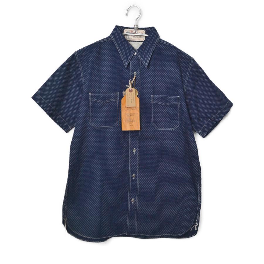 4.5oz POLKA DOT ポルカドット 半袖 ワークシャツ