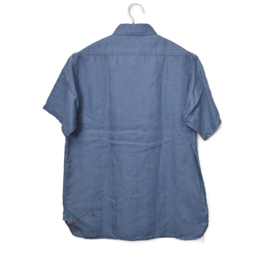 S/S WORK SHIRT リネン ヘリンボーン 半袖 ワークシャツの買取実績画像