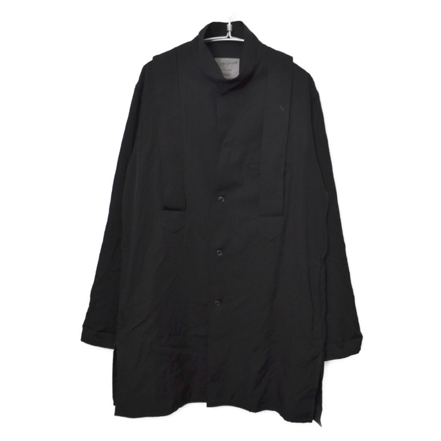 2014SS/ウールギャバジンスタンドカラー バンテージ シャツ