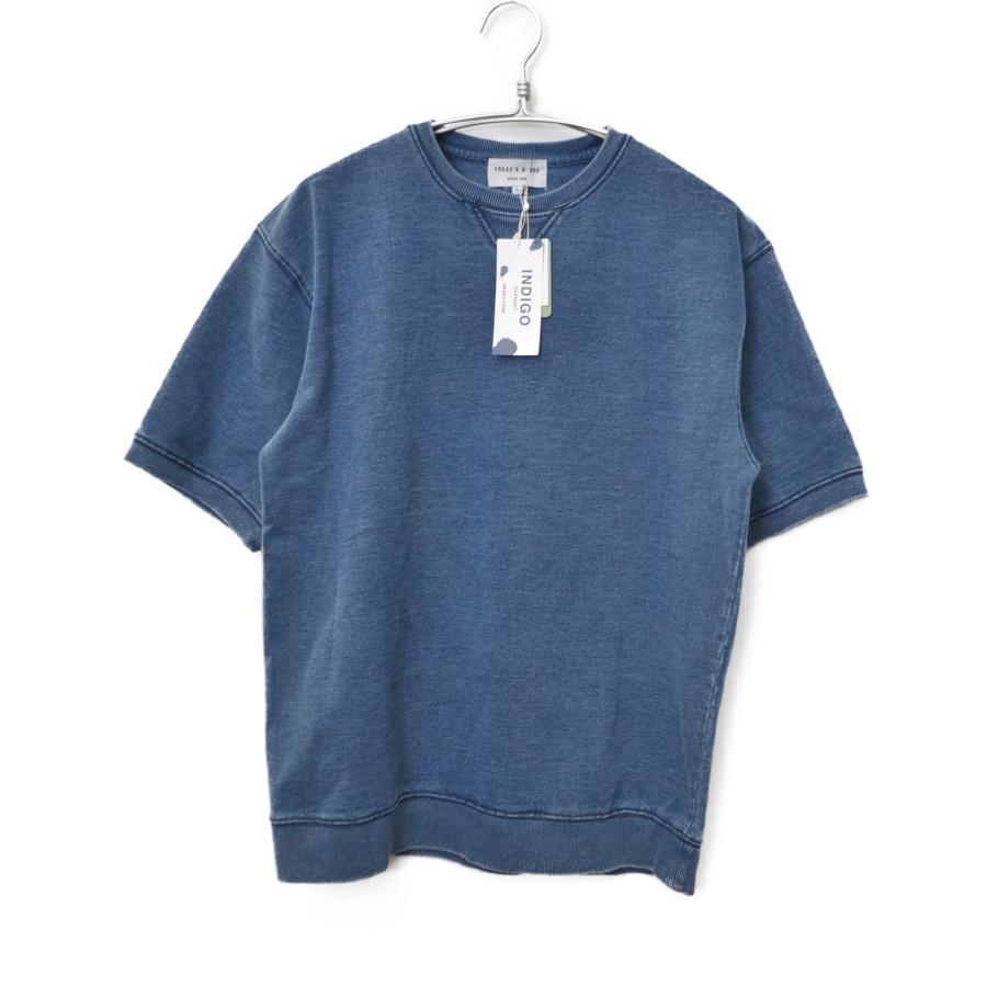 インディゴ染め スウェット 半袖 Tシャツ