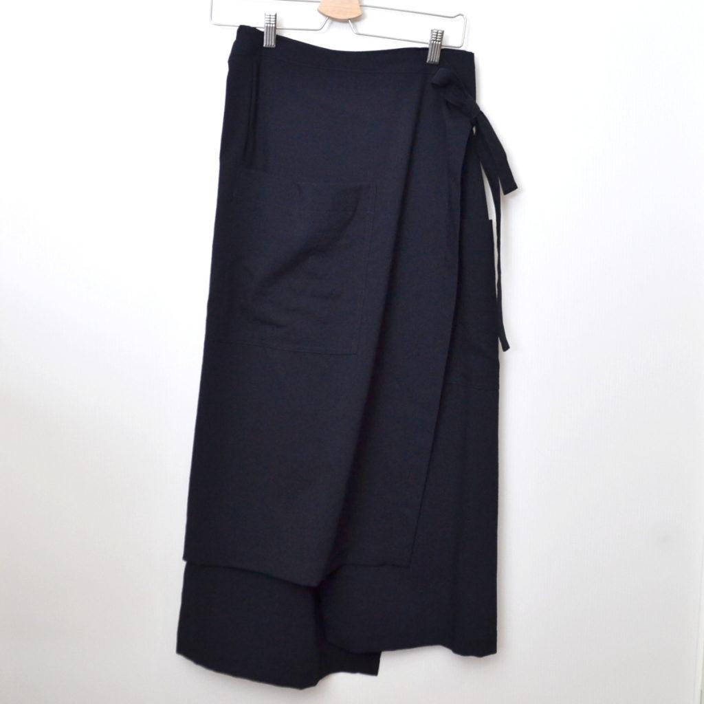 AD1994/ サマーウール ポケット付き ラップスカート
