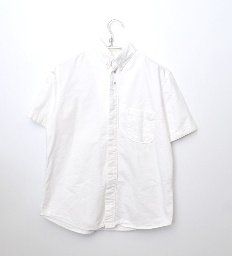 コットン ボタンダウン 半袖 シャツ