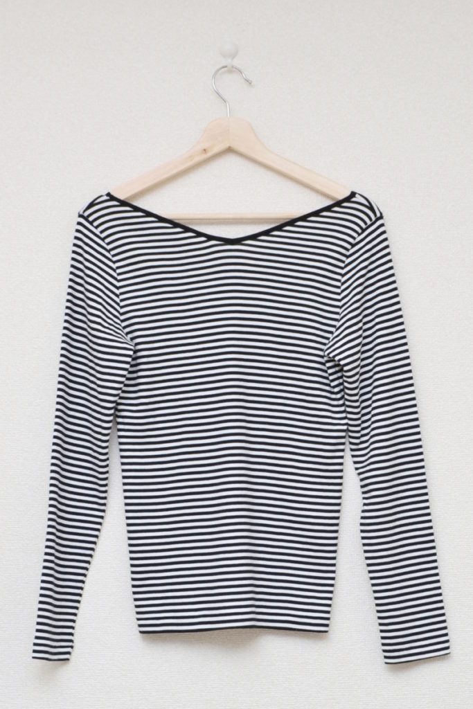 ×IENA/2018AW/別注 Vネック ボーダー 長袖 Tシャツの買取実績画像