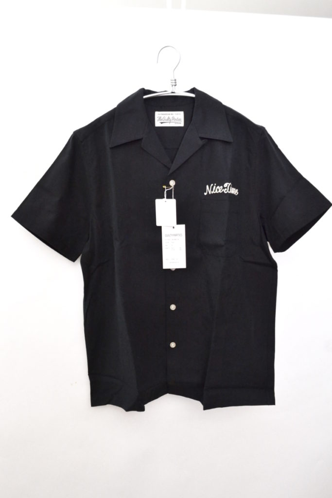50'S SHIRT S/S 虎 刺繍 半袖オープンカラーシャツ