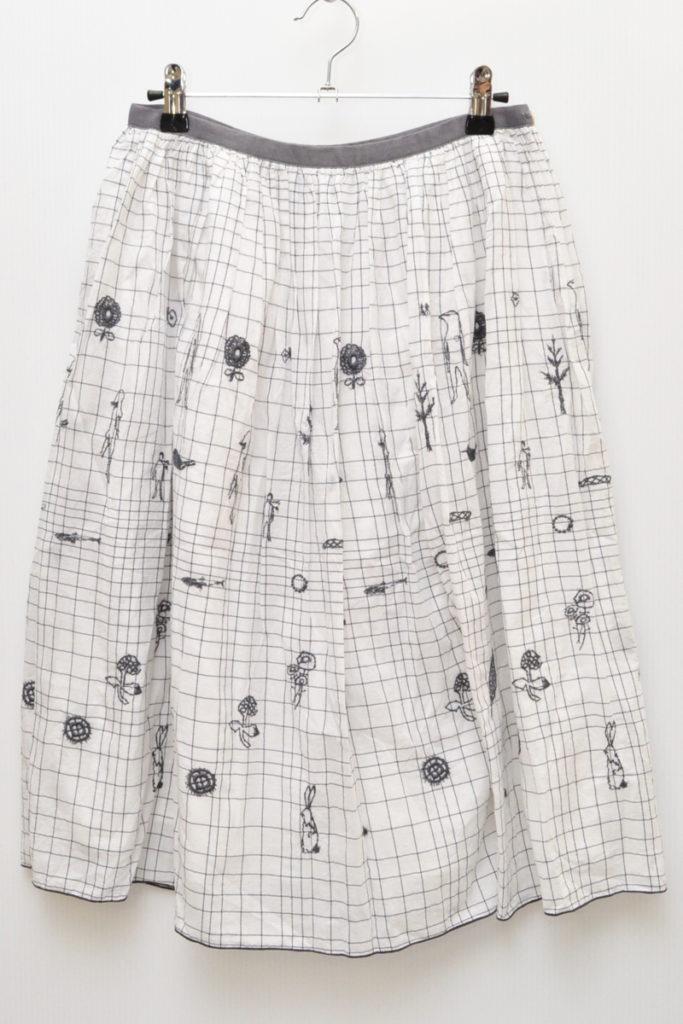 laundry/wander ワンダー 刺繍 スカート