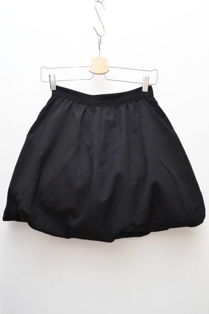 1980s 初期/ウールギャバジン 中綿 ボリュームスカート