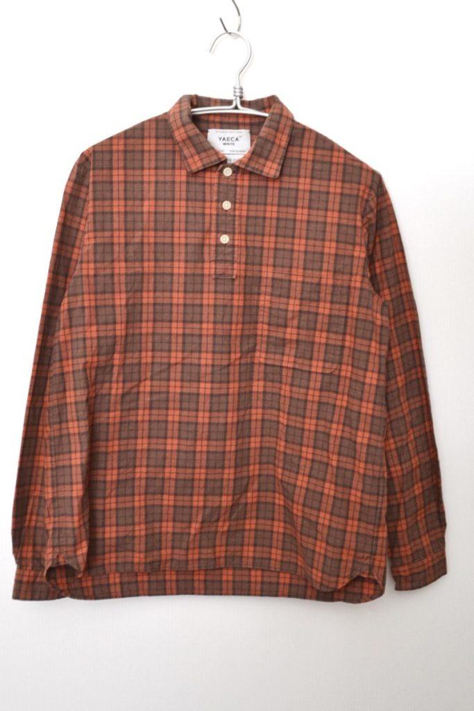 BUTTON SHIRT PULL OVER プルオーバー チェック ボタンシャツ