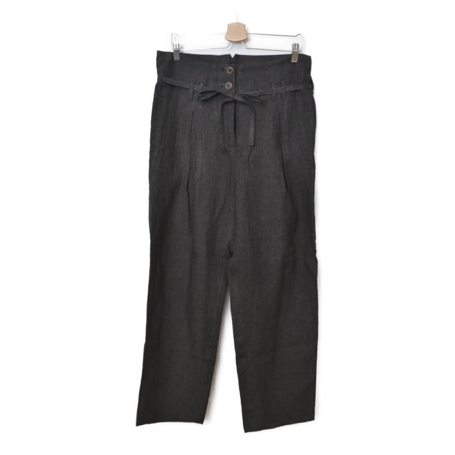 2018SS/ リネン ボタンフライ ベルト パンツ