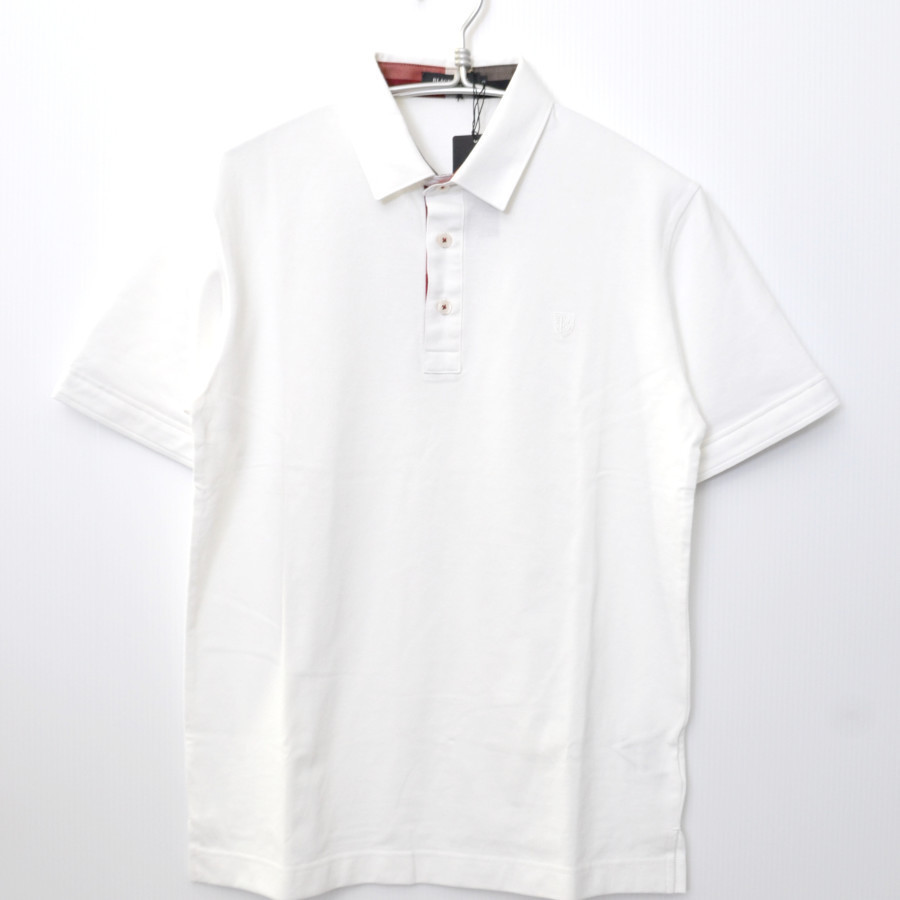 コットン 刺繍 半袖 ポロシャツ
