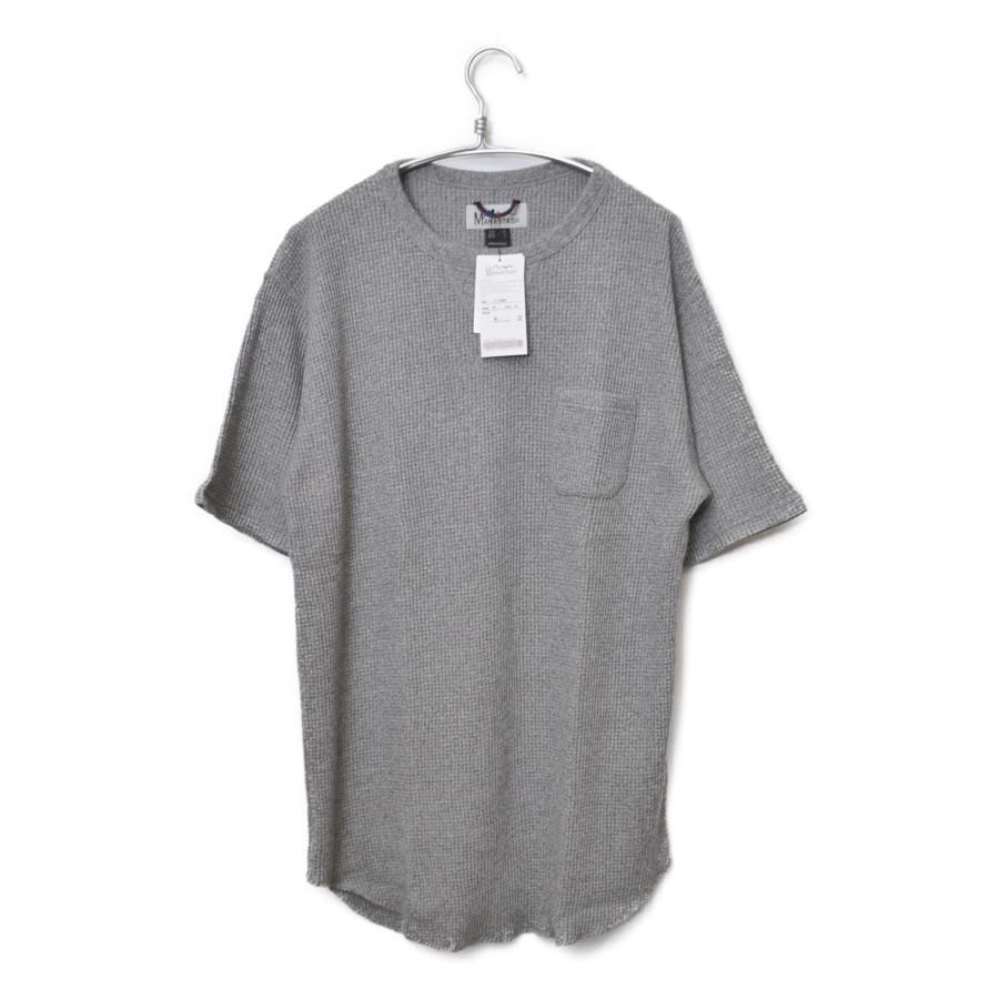 BIG WAHHLE LOOSE TEE ポリエステル コットン ワッフル 半袖 Tシャツ