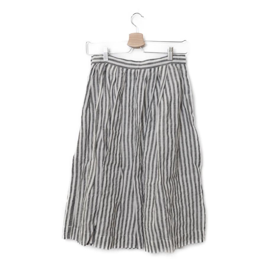 2017/ リネン ストライプ タック スカートの買取実績画像