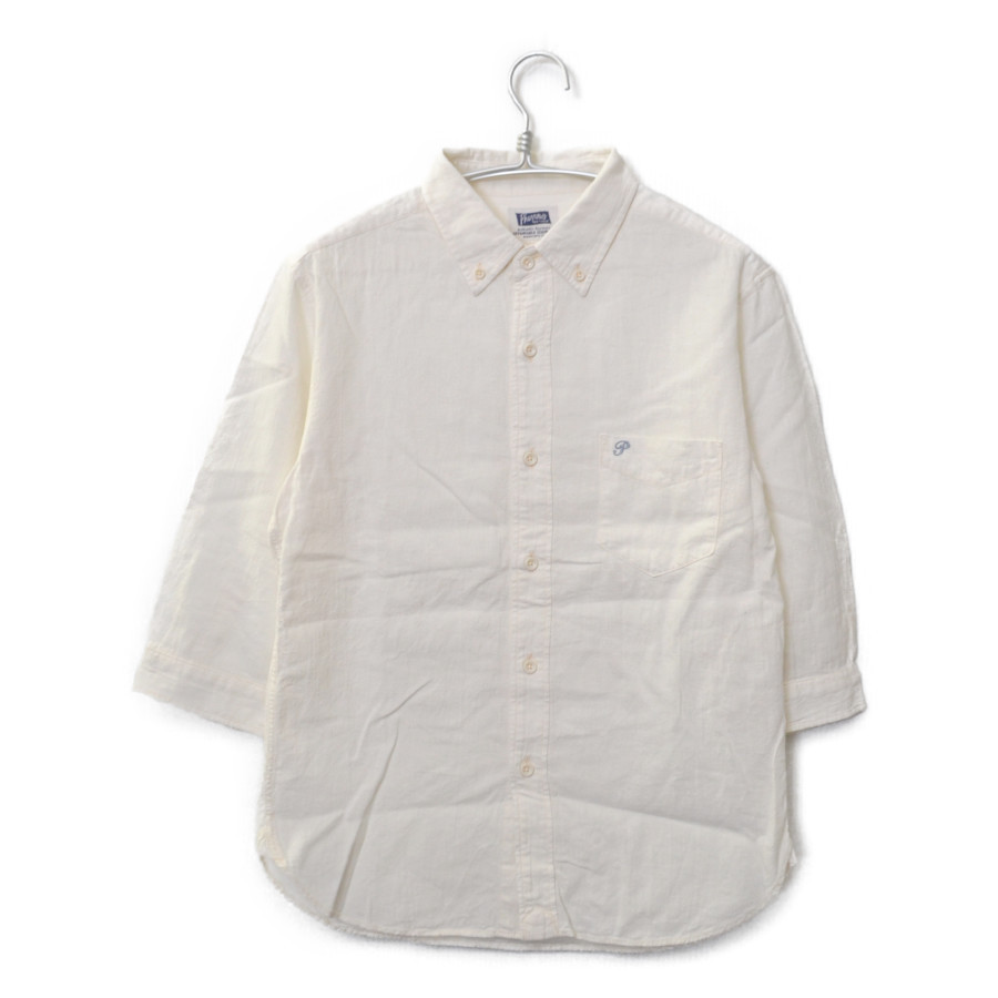 P7BD1 7分袖 ボタンダウン シャツ
