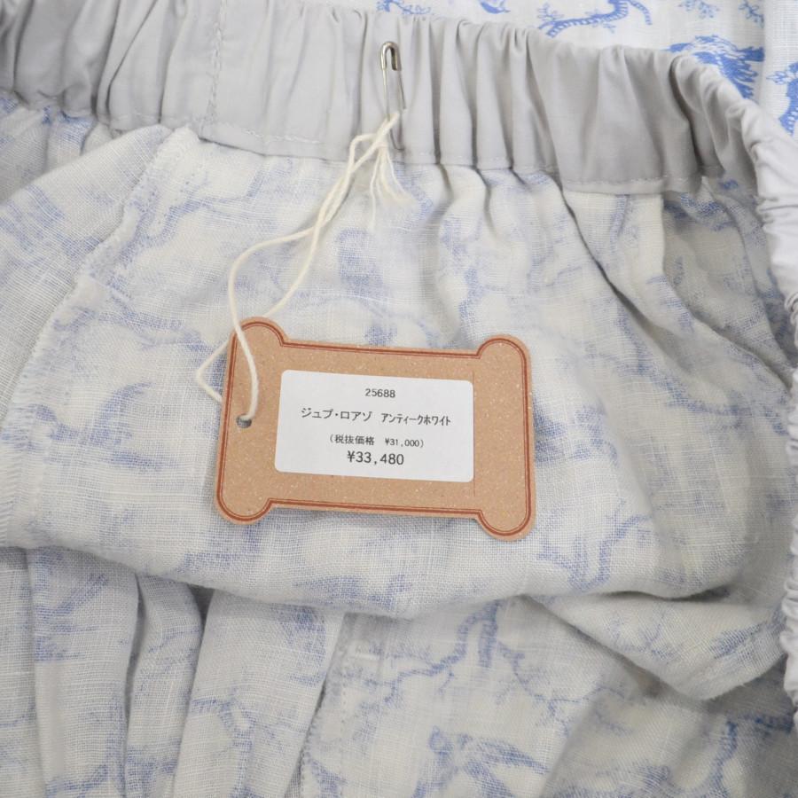 ジュプ・ロアゾ リネン 総柄 ウエストゴム スカートの買取実績画像
