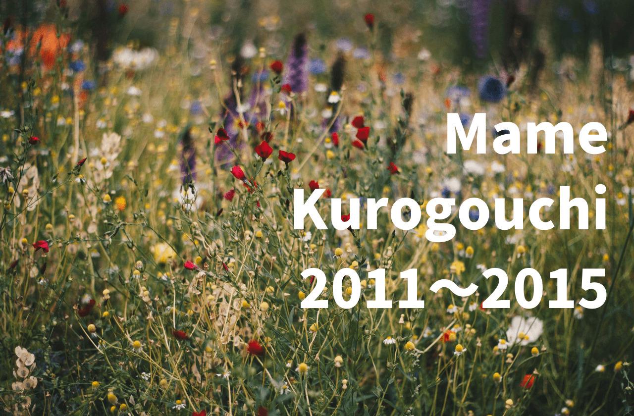 マメクロゴウチのシーズンテーマ解説 【2011~2015まで】 Mame Kurogouchi